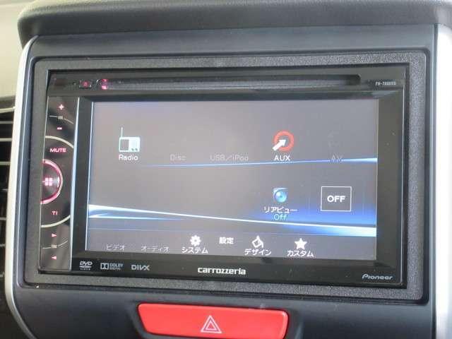 オーディオはパイオニア製ディスプレイオーディオFH-780VDを装着しております。CD/DVD再生がお楽しみいただけます。