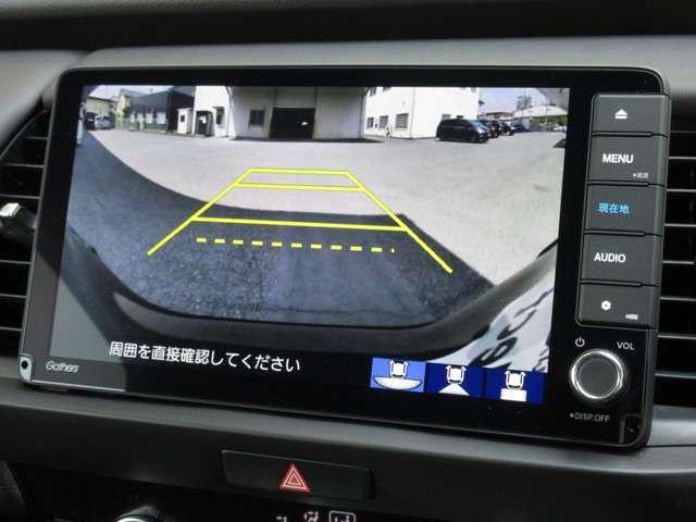 ホーム 当社試乗車 ギャザズメモリー9インチデカナビ・DVD視聴・CD・フルセグTV・ミュージックラック・Bluetooth・Rカメラ ETC LEDヘッドライト ホンダセンシング 純正アルミホイール(6枚目)