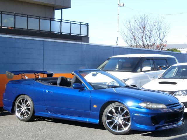 日産 シルビア ヴァリエッタ 車高調 ワーク18インチアルミ GTウイング