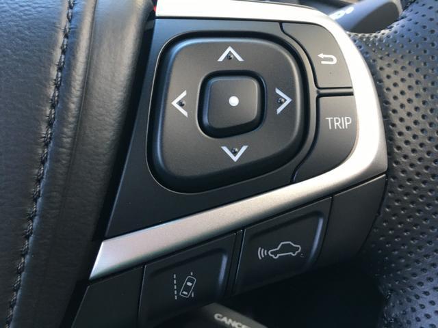 【 レーダークルーズコントロール 】先行車が停止した時は自車も停止して停止状態を保持、先行車が発進した時はドライバー操作により発進し、追従走行を再開します。