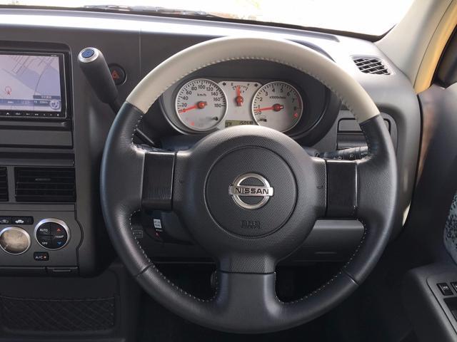 日産 キューブ 15M アートルーム本革シート HDDナビ 限 定 車