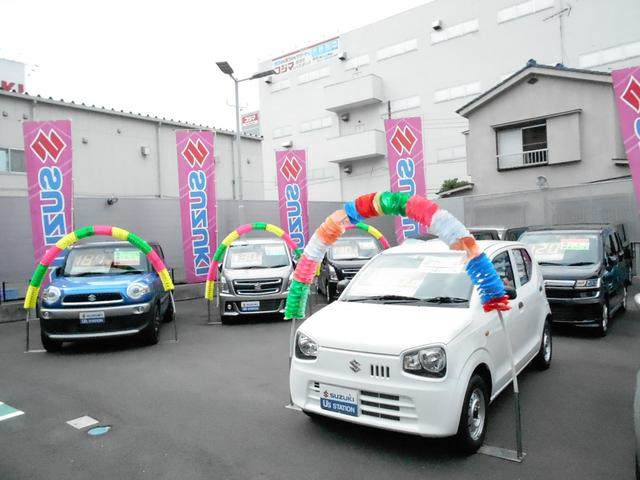 1階展示場には30台程の展示車がございます。