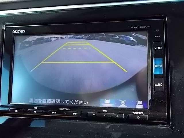 リアカメラで後方視界もしっかり確保☆車庫入れが苦手な方も安心です♪