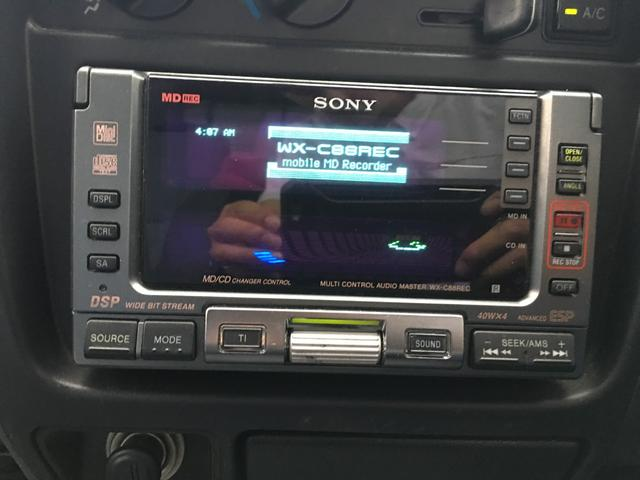 Wキャブ CD/MD ETC Bカメラ 保証書付(4枚目)