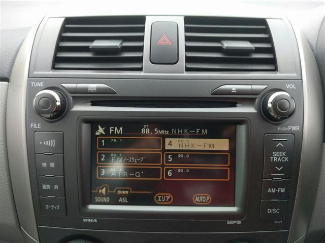 トヨタ カローラアクシオ X バックカメラ キーレス CDオーディオ