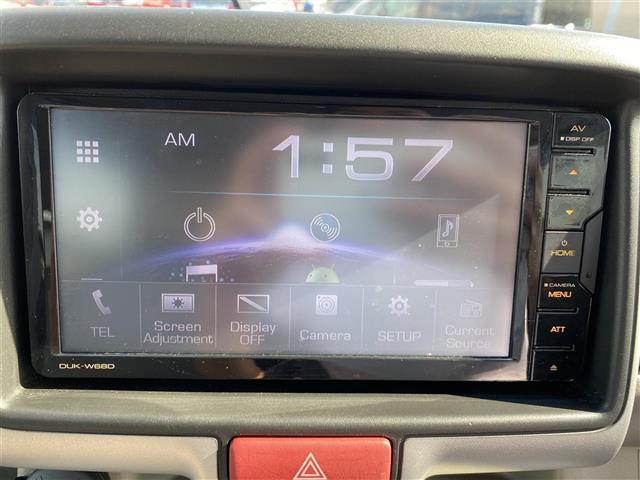 PZターボ 社外ディスプレイオーディオ/DVD/CD/Bluetooth/USB ETC バックカメラ スマートキー プッシュスタート リアヒーター 衝突軽減ブレーキ 左側パワースライドドア HID ハイルーフ(4枚目)
