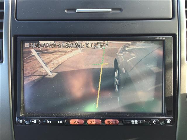 日産 ティーダ 15G ワンオーナー 黒ハーフレザー HDDナビバックカメラ