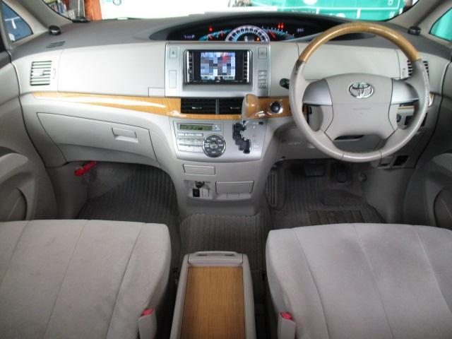 トヨタ エスティマ G HDDナビ フルセグ 後席モニタ 両側Pスラ