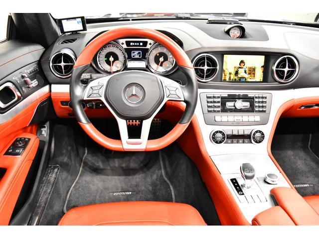 <SL550 Blue Efficiency Edition1 専用装備>・<AMGスポーツパッケージ> -Mercedes-Benzロゴ付ブレーキキャリパー&ドリルドベンチレーテッドディスク