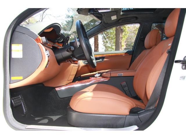 S63 AMGロング デジーノインテリア ブラウン系レザー(9枚目)