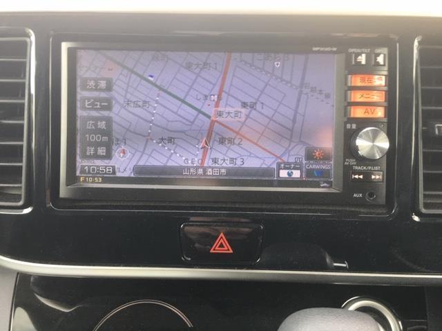 ハイウェイスター X Gパッケージ 4WD ワンオーナー スマートキー  純正ナビ/フルセグTV アラウンドビュー 両側電動ドア ETC シートヒーター キセノンヘッドライト フォグランプ ウィンカーミラー 純正AWノーマルタイヤ積込(7枚目)