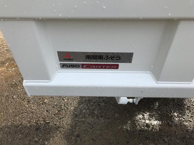 三菱ふそう キャンター 全低床3トンダンプ Dターボ 強化ボディ  車線逸脱センサー
