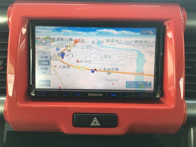Jスタイル レーダーブレーキサポート/社外SDナビ/地デジ(ワンセグ)/DVD/CD/USB/運転席シートヒーター/アイドリングストップ/プッシュエンジンスタート/純正フロアマット(7枚目)