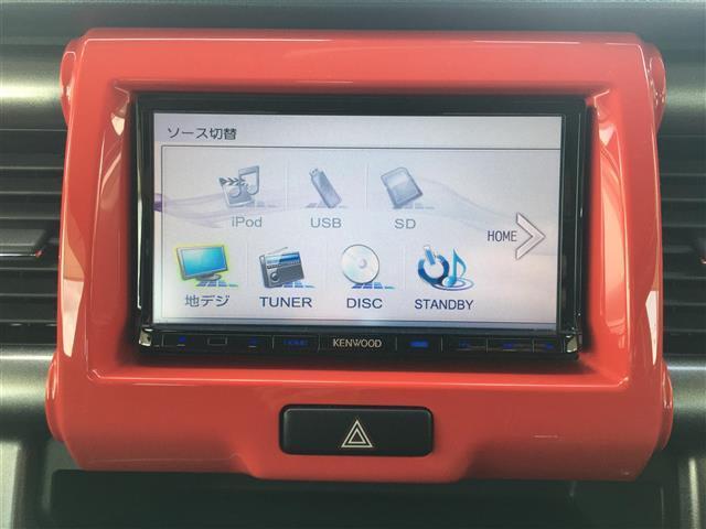 Jスタイル レーダーブレーキサポート/社外SDナビ/地デジ(ワンセグ)/DVD/CD/USB/運転席シートヒーター/アイドリングストップ/プッシュエンジンスタート/純正フロアマット(8枚目)