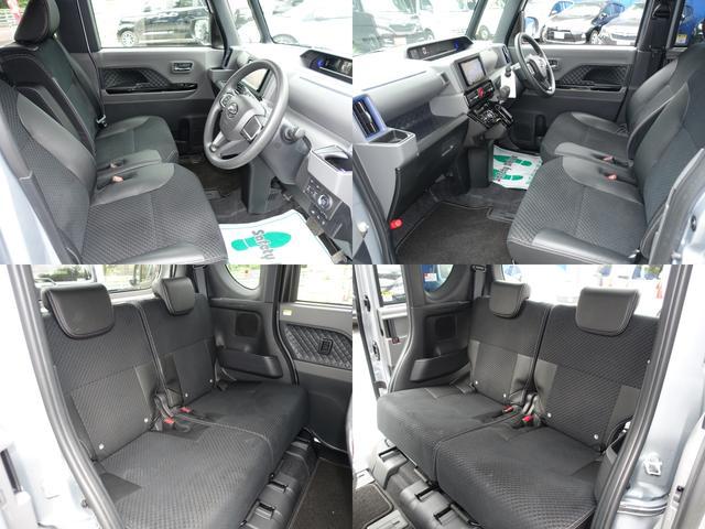 カスタムX スマートアシスト パナソニックナビ フルセグTV DVD再生 Bluetooth バックモニター 運転席スーパースライドシート 両側オートスライドドア 禁煙車 ハーフレザーシート 最長10年保証対象車(3枚目)