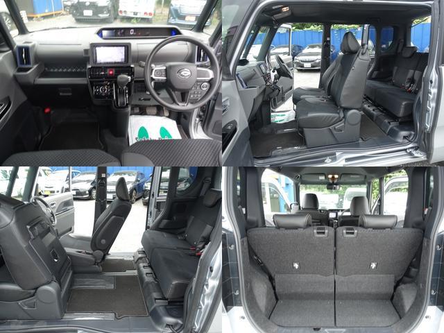 カスタムX スマートアシスト パナソニックナビ フルセグTV DVD再生 Bluetooth バックモニター 運転席スーパースライドシート 両側オートスライドドア 禁煙車 ハーフレザーシート 最長10年保証対象車(4枚目)