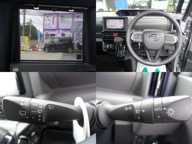 カスタムX スマートアシスト パナソニックナビ フルセグTV DVD再生 Bluetooth バックモニター 運転席スーパースライドシート 両側オートスライドドア 禁煙車 ハーフレザーシート 最長10年保証対象車(6枚目)