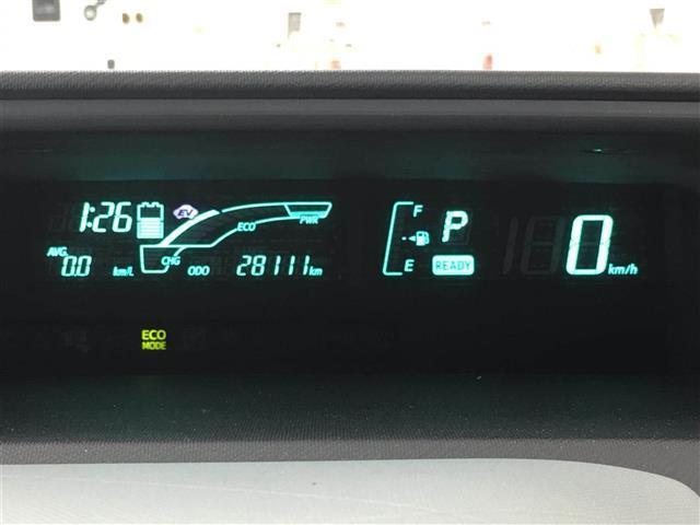 【デジタルメーター】スピードや燃費率等がデジタルで見れるので、見やすいですね!