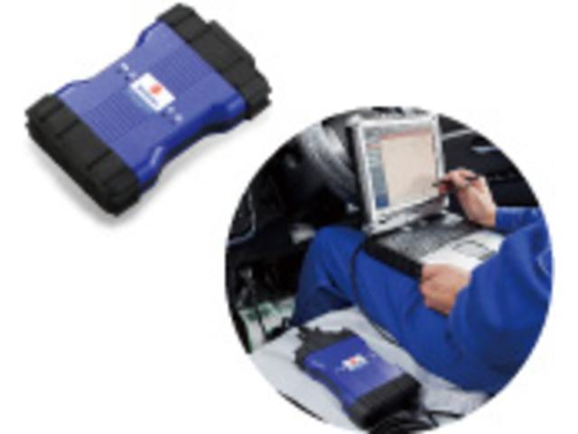 スズキ専用故障診断機。車両故障診断機をお車に接続することにより、電装品の確実な診断ができ、修理時間の短縮と同時に、誤診の削減が可能になります。