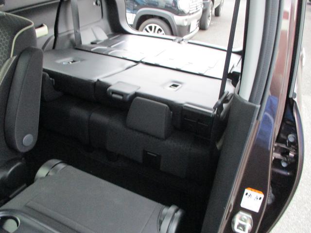 1人乗車時ラゲッジスペース。最大荷室アレンジ状態です。もう引っ越し荷物が積めちゃいます。広大!