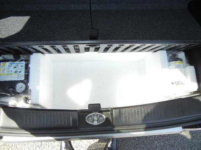 パンク応急修理キット搭載車 万が一のパンクの際はタイヤを交換せずに応急処置ができます