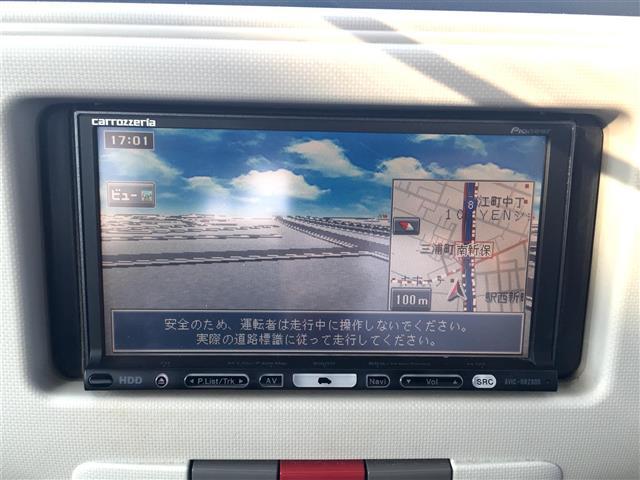 プラスX ワンオーナー 社外HDDナビ ルーフレール(11枚目)
