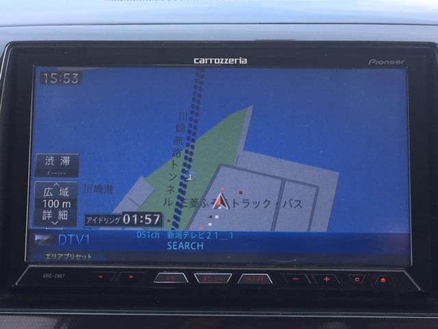 リミテッド 社外HDDナビ AVIC-ZH07 フルセグTV DVD CD Bluetooth プッシュスタート ハーフレザーシート スマートキー 革巻ステアリング 電動格納ミラー HIDライト フォグランプ(8枚目)