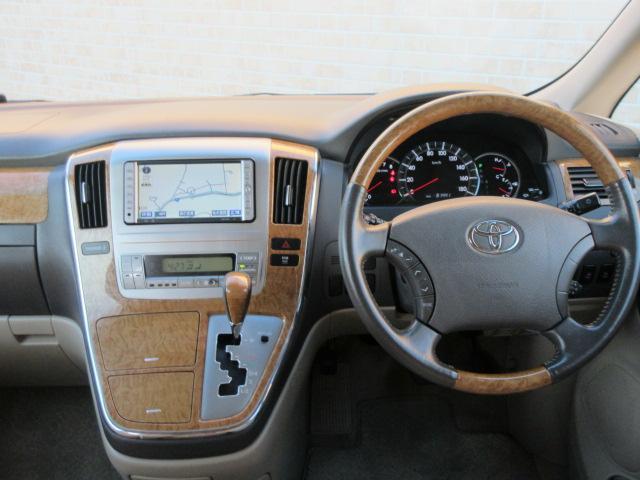 トヨタ アルファードG MS HDDナビ 両側パワスラ フリップダウンモニター