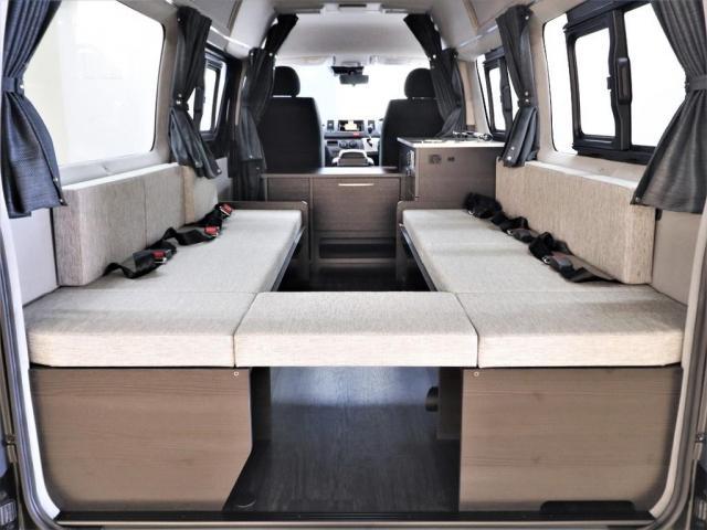 DX ロング GLパッケージ パノラミックビュー デジタルインナーミラー リアヒータークーラー FLEXキャンピング NH-TYPE2 冷蔵庫 サブバッテリー 外部充電 FFヒーター 8人乗り8ナンバー(12枚目)