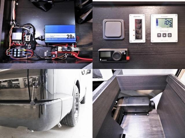DX ロング GLパッケージ パノラミックビュー デジタルインナーミラー リアヒータークーラー FLEXキャンピング NH-TYPE2 冷蔵庫 サブバッテリー 外部充電 FFヒーター 8人乗り8ナンバー(14枚目)