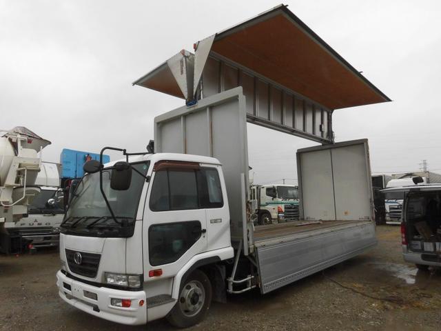 UDトラックス コンドル 4tワイド アルミウィング ジョロダー4列 CNG