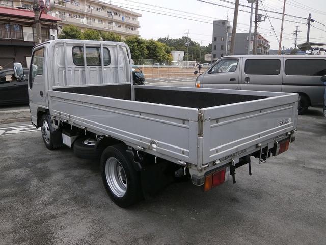 日産 アトラストラック 2t標準ショート平ボデー 全低床 水平チェーン ロープ穴3対