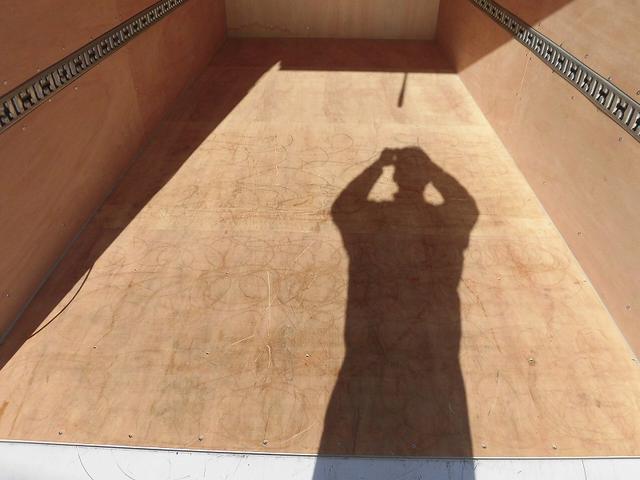 三菱ふそう キャンター 3tワイドロング アルミバン 跳ね上げゲート 高床