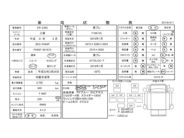 4tワイド 冷蔵冷凍車低温 ジョロダー4列サイドドアベッド付(3枚目)