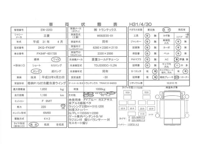 バックアイカメラ ETC ベッド付 リアエアサス(3枚目)