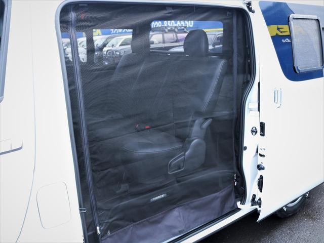 GL 重歩行フロア施工 高さ調整式ベッドキット EX16インチAW オープンカントリータイヤ 網戸 防虫ネット カロッツェリアSDナビ フルセグTV(36枚目)