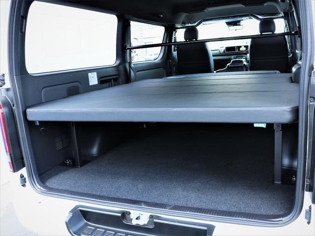 スーパーGL ダークプライムII バッドラッカー18AW ローダウン デルフィーノラインフロントスポイラー LEDテール 高さ調整式ベッドキット カロッツェリアSDナビ フルセグTV ビルトインETC(21枚目)