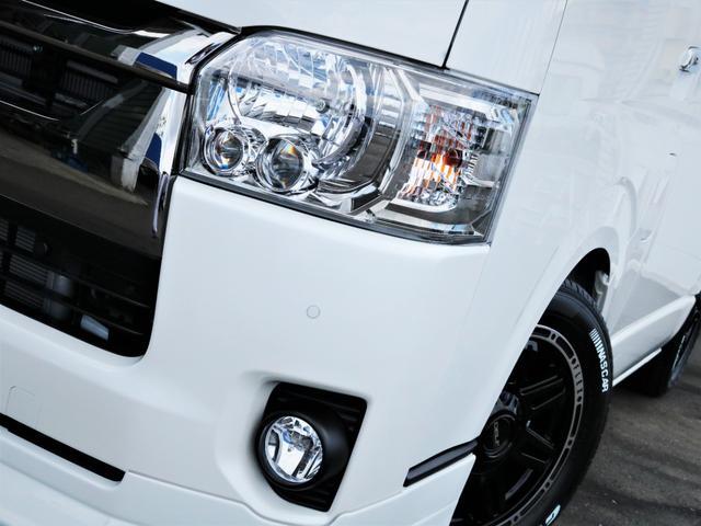 スーパーGL ダークプライムII デルフ17AW ローダウン カロッツェリアSDナビ フルセグTV デルフィーノラインフロントスポイラー ナスカータイヤ LEDヘッドライト PVM デジタルインナーミラー(7枚目)