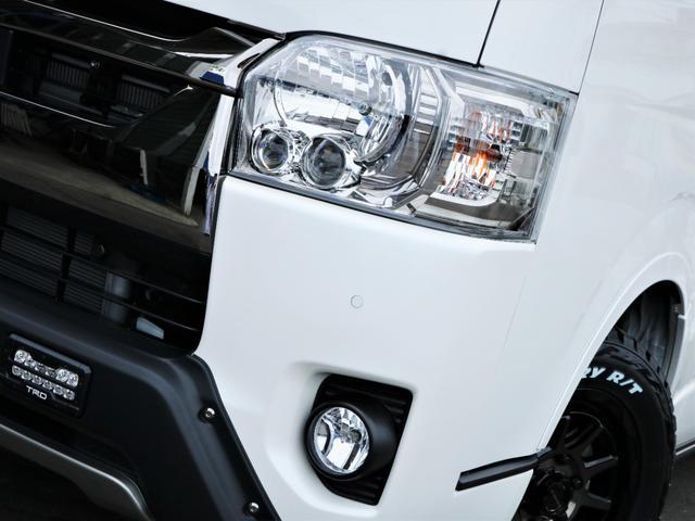 スーパーGL ダークプライムII マッドバンス16AW オープンカントリータイヤ TRDフロントエアロ カロッツェリアSDナビ フルセグTV ビルトインETC 高さ調整式ベッドキット デジタルインナーミラー(7枚目)