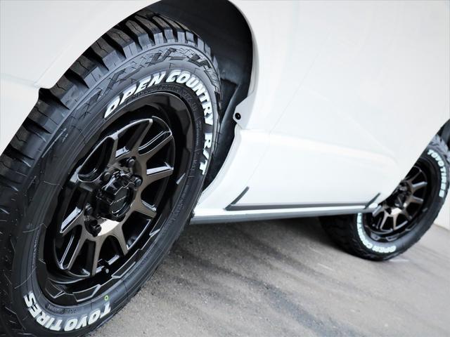 スーパーGL ダークプライムII マッドバンス16AW オープンカントリータイヤ TRDフロントエアロ カロッツェリアSDナビ フルセグTV ビルトインETC 高さ調整式ベッドキット デジタルインナーミラー(19枚目)