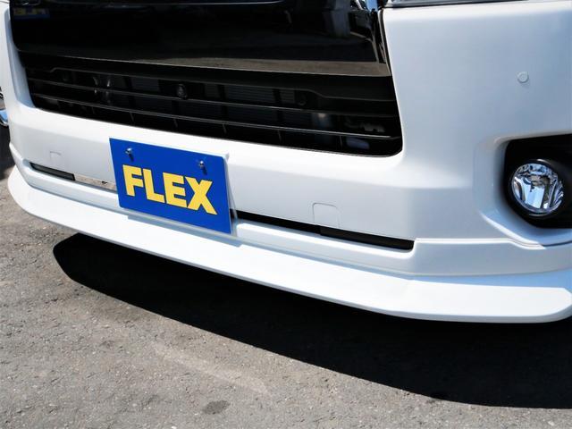スーパーGL ダークプライムII レイズ18AW トーヨータイヤ FLEXオリジナルデルフィーノラインフロントエアロ フローリング施行 高さ調整式ベッドキット カロッツェリアSDナビ フルセグTV ビルトインETC(6枚目)
