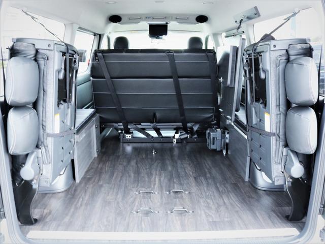 GL 内装アレンジVER2 シート変更 フローリング テーブル シートカバー SDナビ フルセグTV 後席モニター ビルトインETC デルフ17AW ナスカータイヤ LEDテール(13枚目)