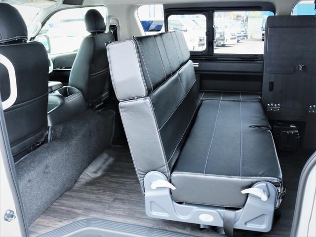 GL 内装アレンジVER2 シート変更 フローリング テーブル シートカバー SDナビ フルセグTV 後席モニター ビルトインETC デルフ17AW ナスカータイヤ LEDテール(21枚目)