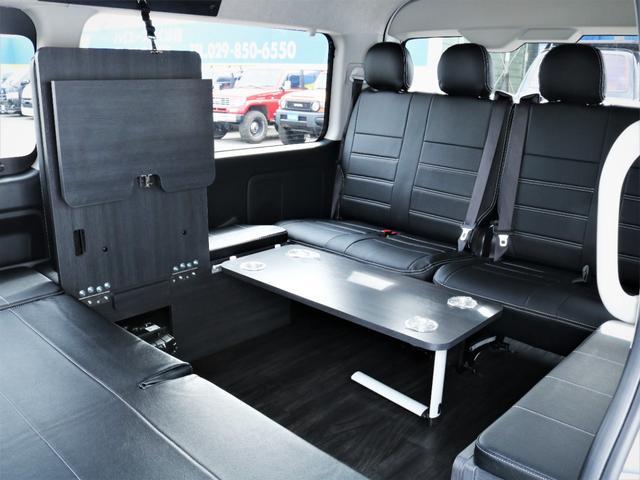 GL 内装アレンジVER2 シート変更 フローリング テーブル シートカバー SDナビ フルセグTV 後席モニター ビルトインETC デルフ17AW ナスカータイヤ LEDテール(33枚目)