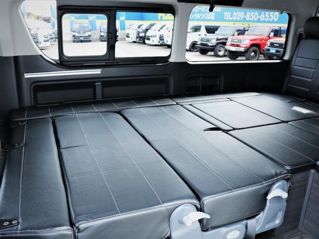 GL 内装アレンジVER2 シート変更 フローリング テーブル シートカバー SDナビ フルセグTV 後席モニター ビルトインETC デルフ17AW ナスカータイヤ LEDテール(34枚目)