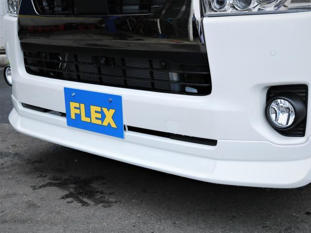 スーパーGL ダークプライムII デルフ17AW ナスカータイヤ ローダウン FLEXデルフィーノラインフロントエアロ オーバーフェンダー パナソニック製SDナビ フルセグTV ビルトインETC 高さ調整式ベッドキット(6枚目)