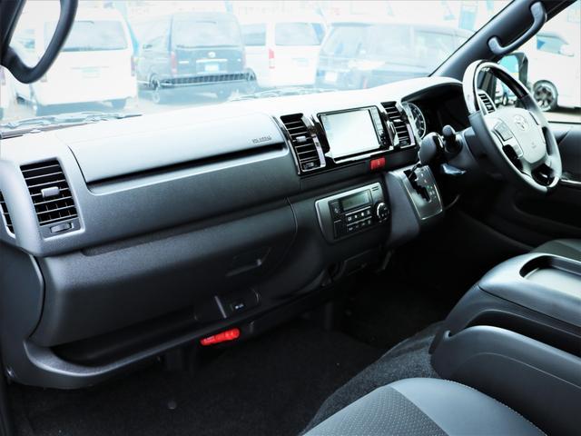 スーパーGL ダークプライムII デルフ17AW ナスカータイヤ ローダウン FLEXデルフィーノラインフロントエアロ オーバーフェンダー パナソニック製SDナビ フルセグTV ビルトインETC 高さ調整式ベッドキット(17枚目)
