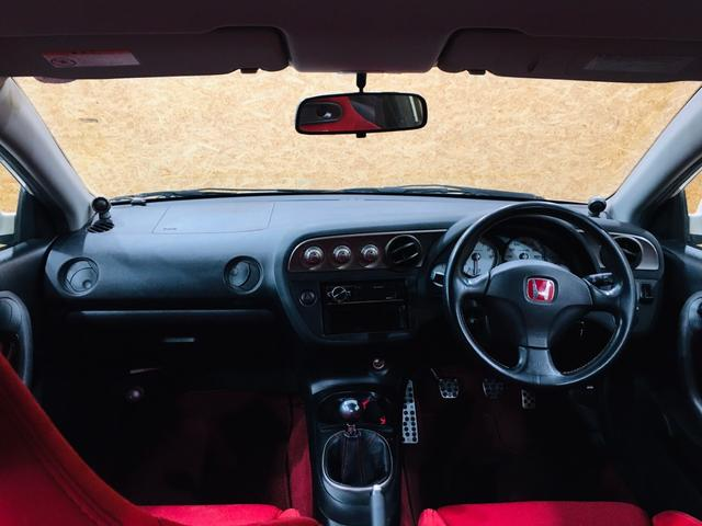 タイプR 6MT TEIN車高調 ローダウン カロッツェリアオーディオ 純正17AW ETC レカロシート Bluetooth接続 HIDライト 整備記録簿有(10枚目)
