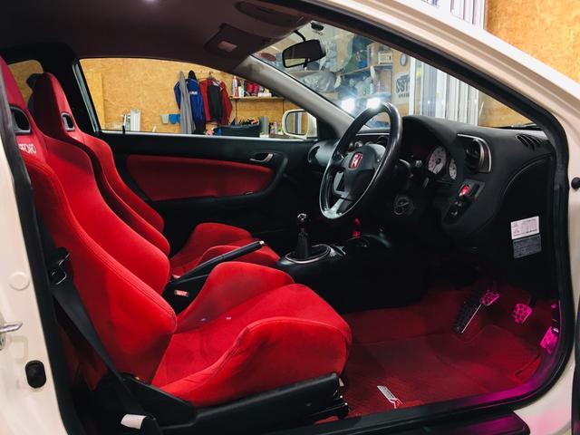タイプR 6MT TEIN車高調 ローダウン カロッツェリアオーディオ 純正17AW ETC レカロシート Bluetooth接続 HIDライト 整備記録簿有(18枚目)