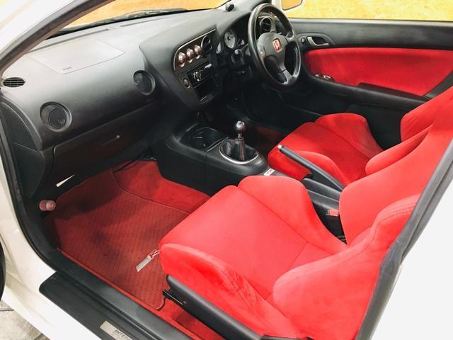 タイプR 6MT TEIN車高調 ローダウン カロッツェリアオーディオ 純正17AW ETC レカロシート Bluetooth接続 HIDライト 整備記録簿有(21枚目)